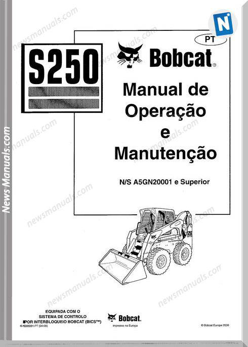 Bobcat S250 Skid Steer Loader Maintenance Manual