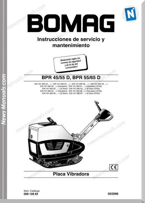 Bomag Bpr 44-55 Bpr 55-66 D Spanish Maintenance