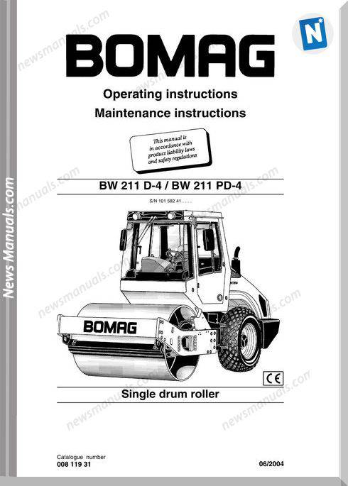 Bomag Bw211D 4 Bw211Pd 4 Operating Maintenance Manual