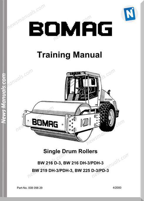 Bomag Bw216Dh-3,225D-3 Service Training Manual