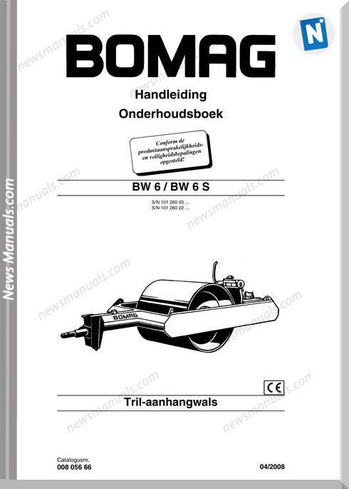 Bomag Bw6 6S Maintenance Manual