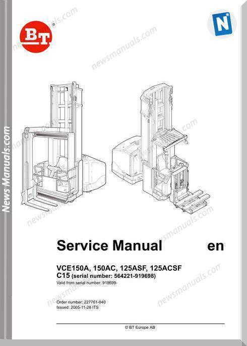Bt Vce150A 150Ac 125Asf 125Acsf C15 Service Manual