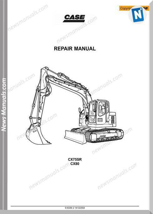 Case Cx75Sr Cx80 Crawler Excavator Shop Manual
