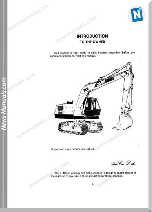 Case Excavator 980B Operators Manual