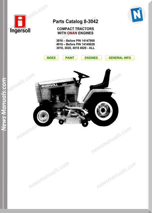 Case Ingersoll 3016-4016-3018-3020 8-3042 Parts Catalog