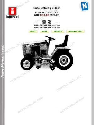 Case Ingersoll Tractor 3010401430123014 Parts Catalog
