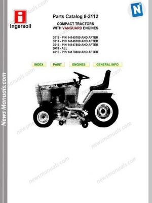 Gehl Skid Loader Model R190 No 50950170 Parts Catalogue