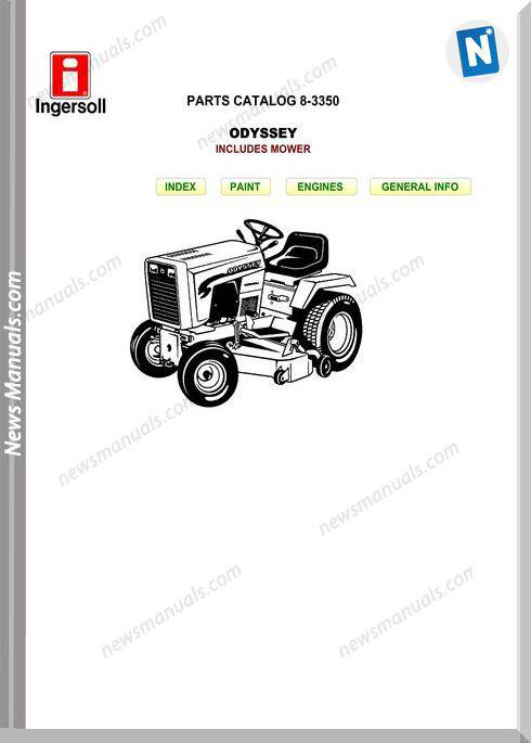 Case Ingersoll Tractor Odyssey 8-3350 Parts Catalog