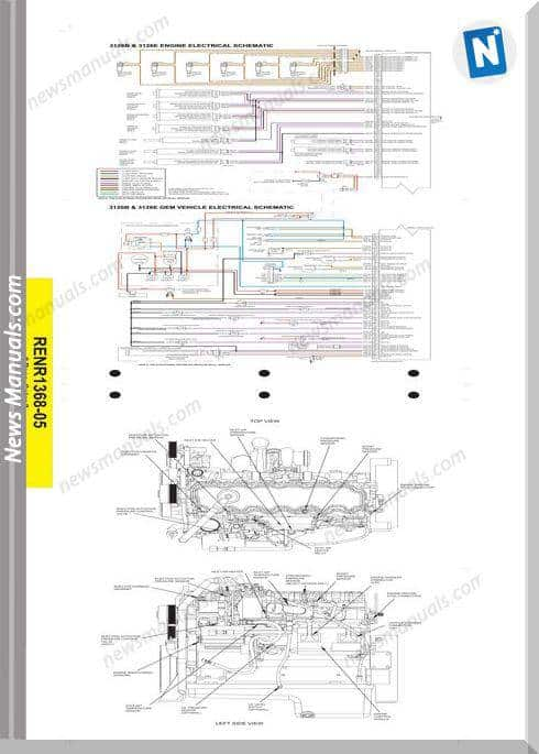 Caterpillar 3126B 3126E On-Highway Engine Wiring Diagram