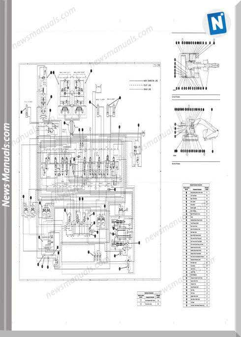 Caterpillar 330L,330Ln Excavator Wiring Diagram