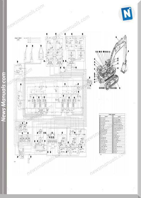 Caterpillar 375,375L Excavator Hydraulic Wiring Diagram