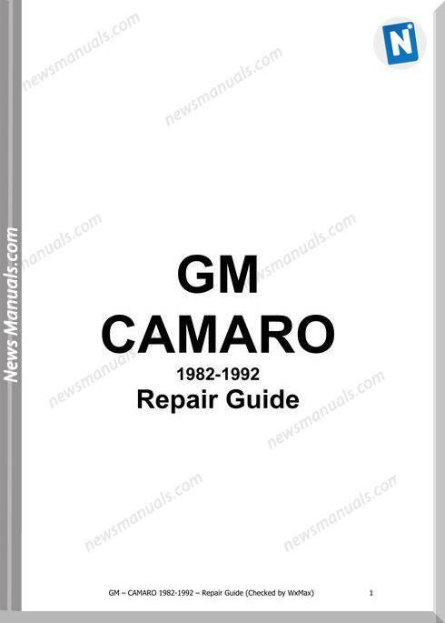 Chevrolet Camaro Repair Guide 1982 1992
