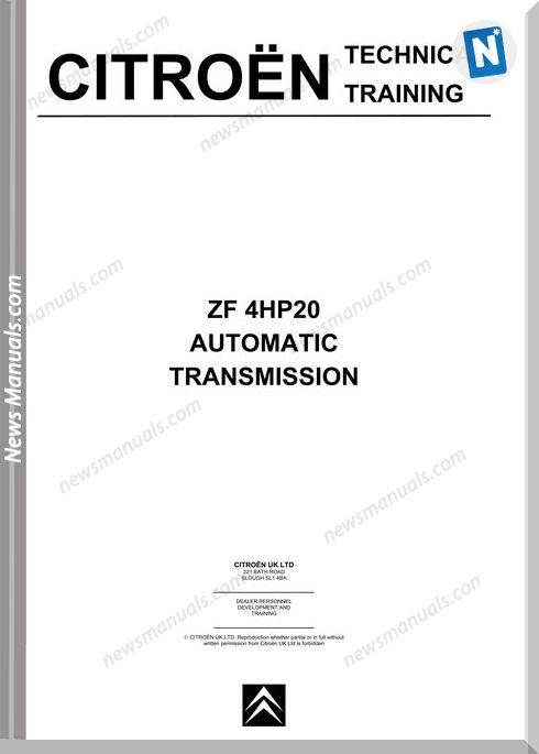 Citroen Training Zf 4Hp20 Automatic Transmission