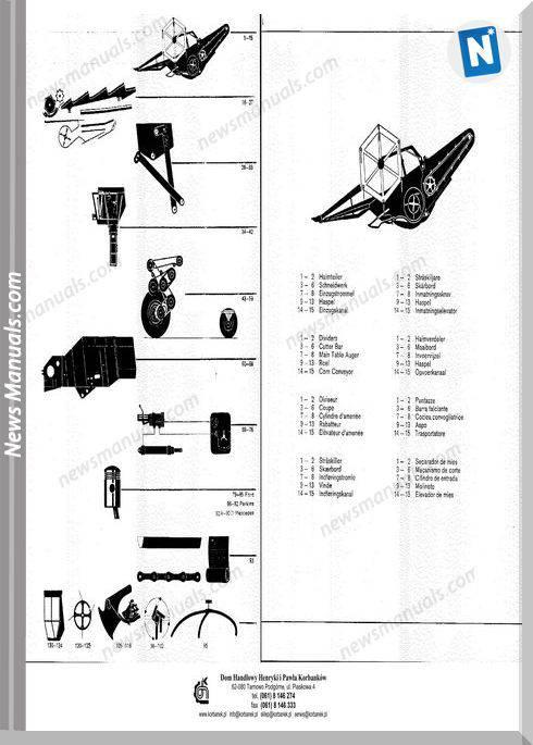 Claas Consul Models German Language Parts Manual