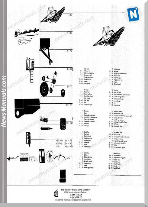 Claas Dominator 100 105 German Language Parts Manual
