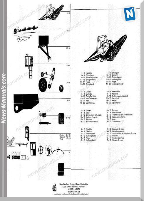 Claas Dominator 80 85 German Language Parts Manual