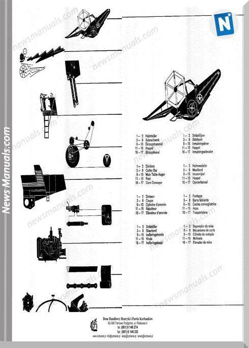 Claas Mercator Models German Language Parts Manual