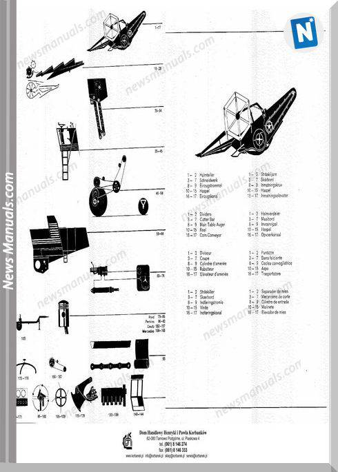Claas Mercator S 70 75 Models German Parts Manual