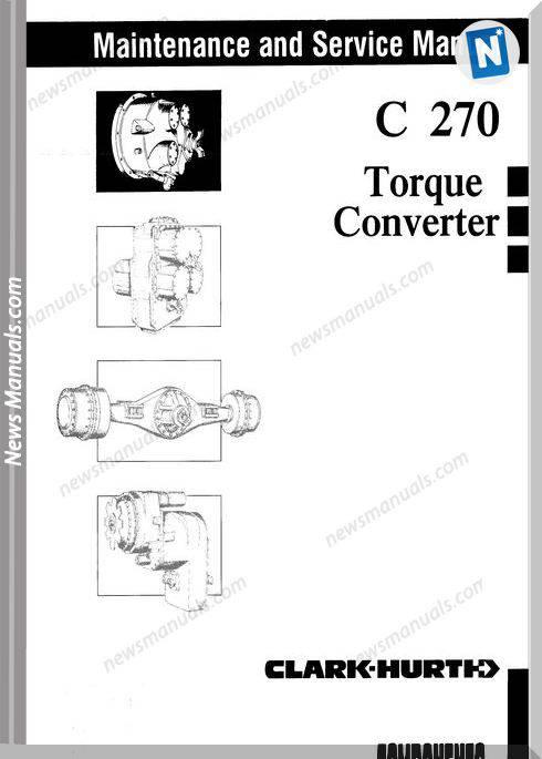 Clark C270 Torque Converter Service Manual