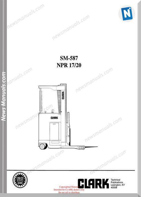 Clark models 587 Service Manual
