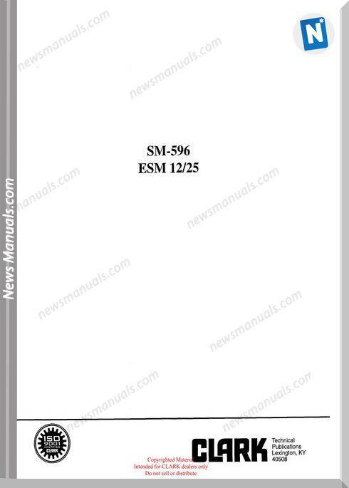 Clark models 596 Service Manual