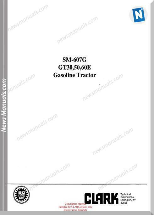 Clark models 607G Service Manual