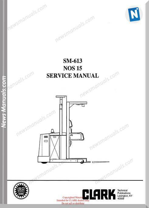 Clark models 613 Service Manual