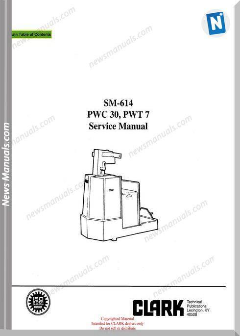 Clark models 614 Service Manual