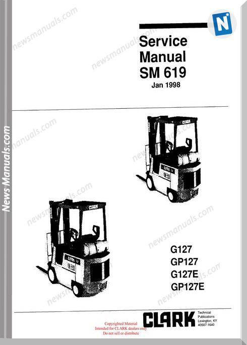 Clark models 619 Service Manual