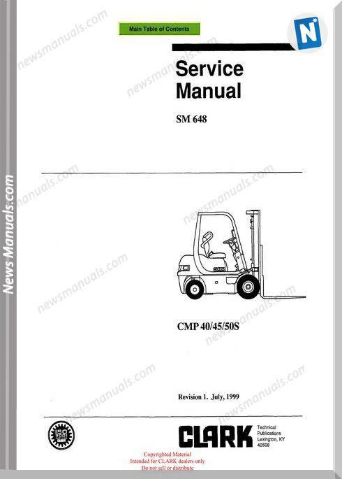 Clark models 648 Service Manual