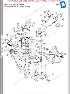 Cub Cadet 2130 Tractor Sn 326006-Up Parts Manual
