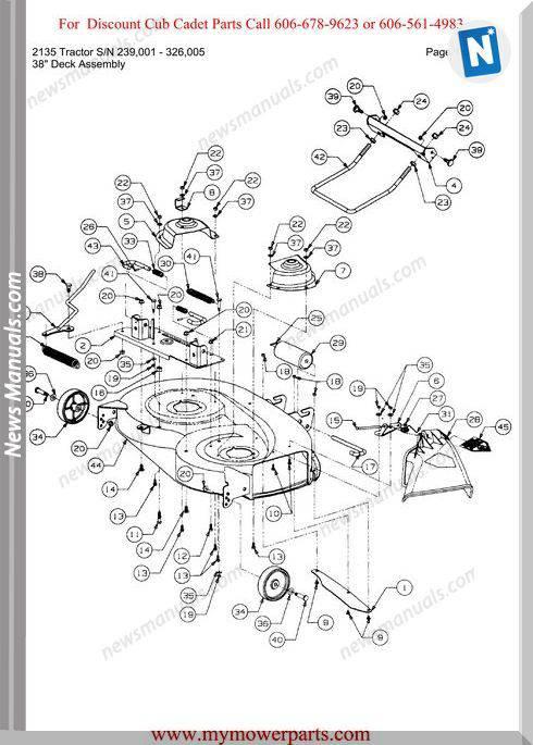 Cub Cadet 2135 Tractor Sn 239001 326005 Parts Manual