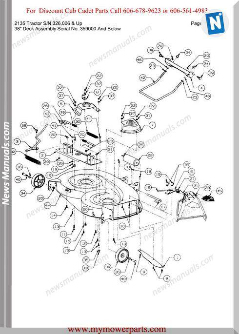 Cub Cadet 2135 Tractor Sn 326006-Up Parts Manual
