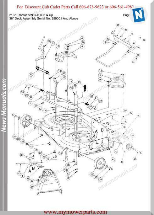 Cub Cadet 2135 Tractor Sn 326006-Up Parts Manual