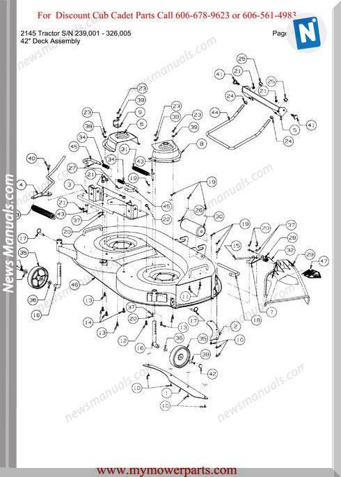 Cub Cadet 2145 Tractor Sn 239001 326005 Parts Manual