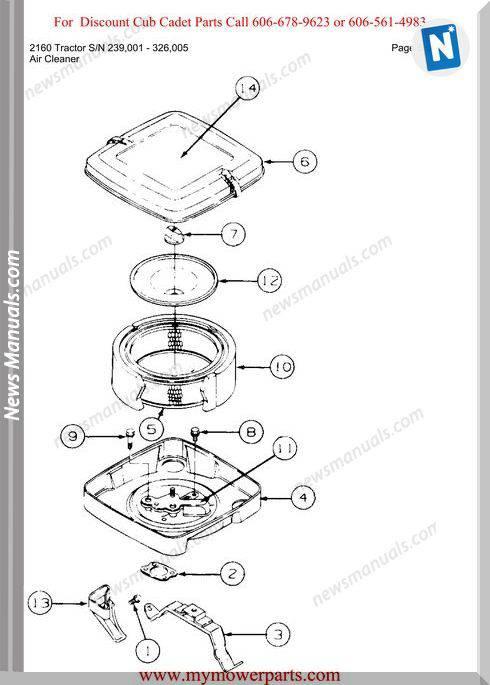 Cub Cadet 2160 Tractor Sn 239001 326005 Parts Manual