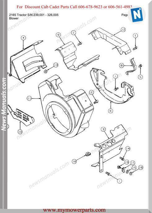 Cub Cadet 2165 Tractor Sn 239001 326005 Parts Manual