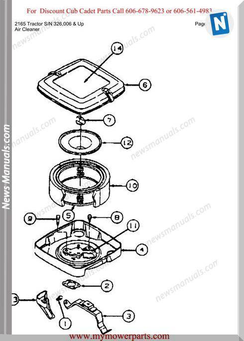Cub Cadet 2165 Tractor Sn 326006-Up Parts Manual