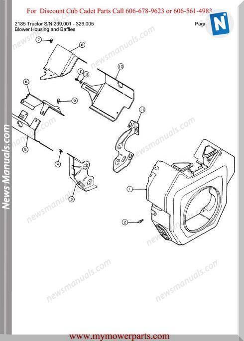 Cub Cadet 2185 Tractor Sn 239001 326005 Parts Manual