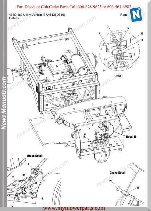 Cub Cadet 435D 4X2 Utility 37Ab435D710 Parts Manual