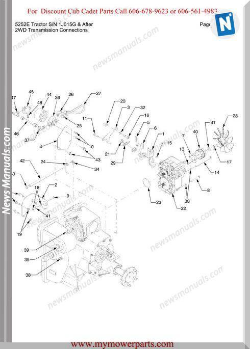 Cub Cadet 5252E Tractor Sn 1J015G-After Parts Manual