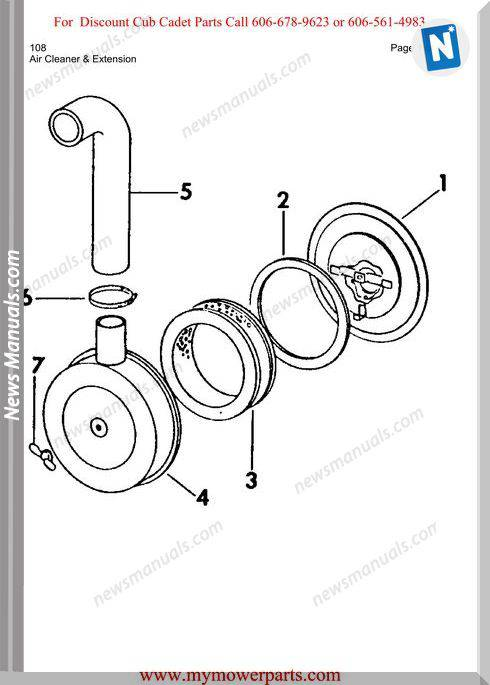 Cub Cadet Parts Manual For Model 108