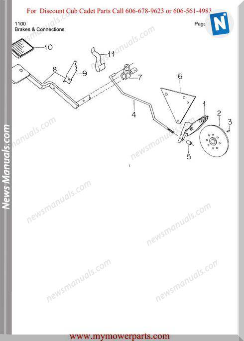 Cub Cadet Parts Manual For Model 1100