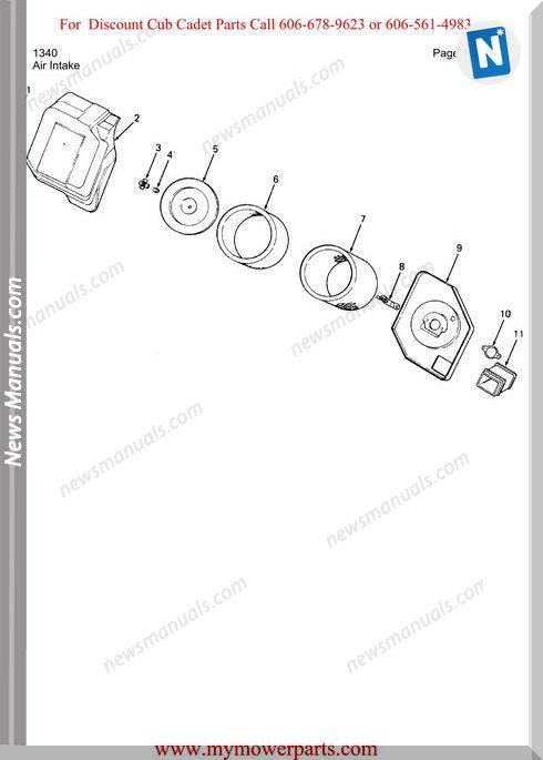 Cub Cadet Parts Manual For Model 1340