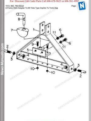 Cub Cadet Parts Manual For Model 5252 Tractor