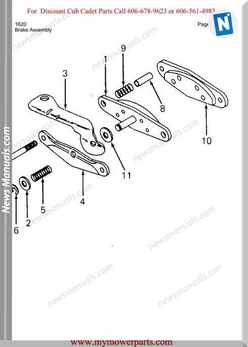 Cub Cadet Parts Manual For Model 1620
