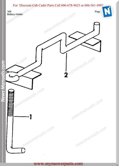 Cub Cadet Parts Manual For Model 169