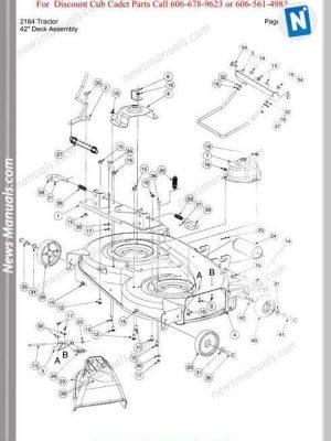 Cub Cadet Parts Manual For Model 2164 Tractor