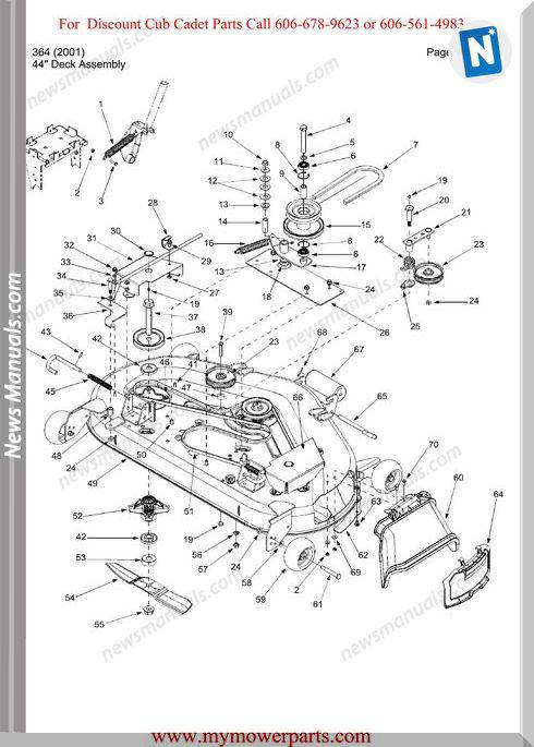 Cub Cadet Parts Manual For Model 364 2001