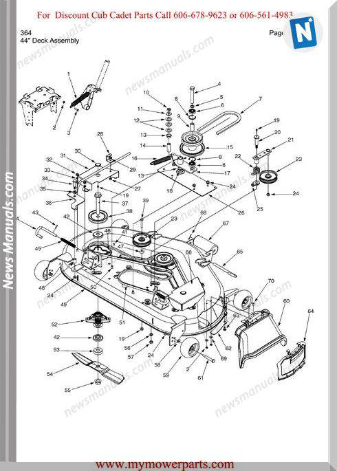 Cub Cadet Parts Manual For Model 364
